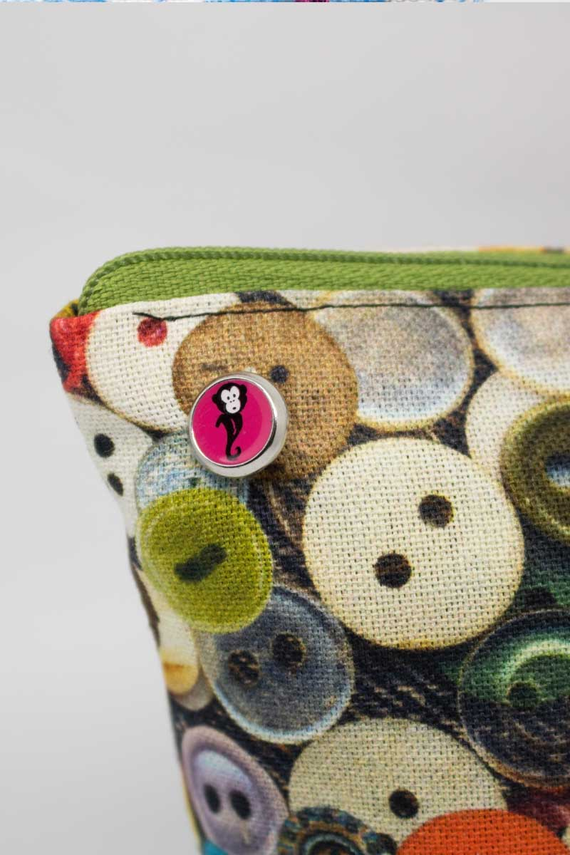 Monkey Tasche Buttons