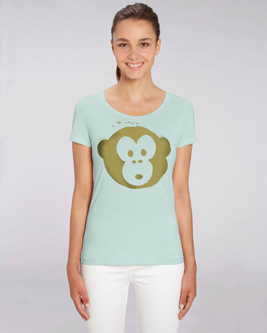 T-shirt Monkey Loves Lightblue