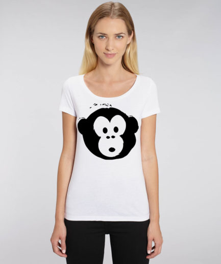 T-shirt Monkey Glows White