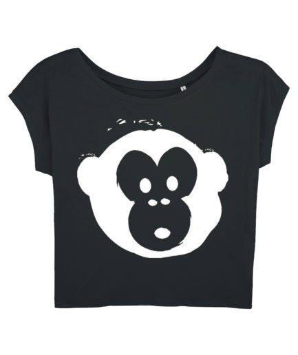 T-shirt Monkey Flies Black-White