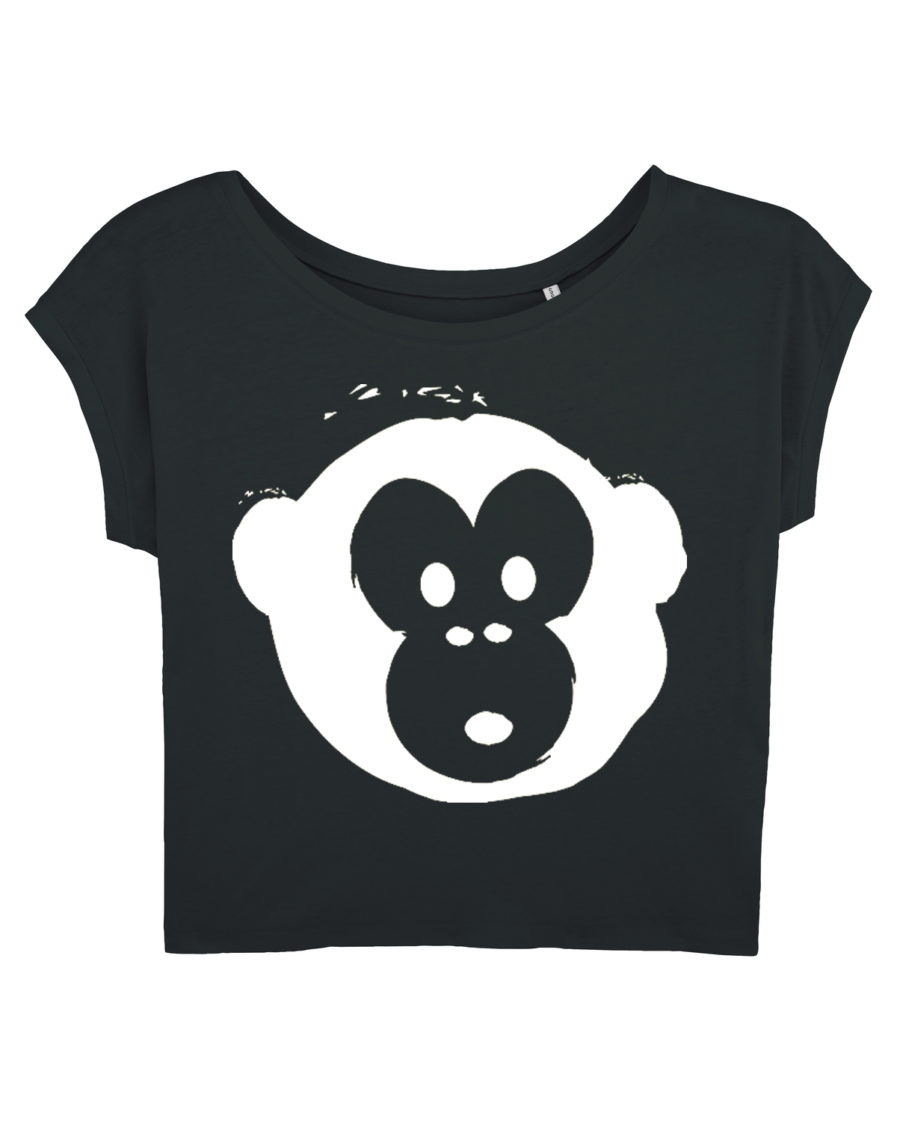 T-shirt Monkey Flies Black-White