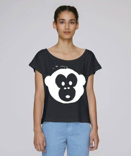 T-shirt Monkey Flies Black