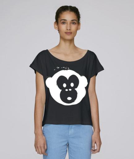 T-shirt Monkey Flies Black