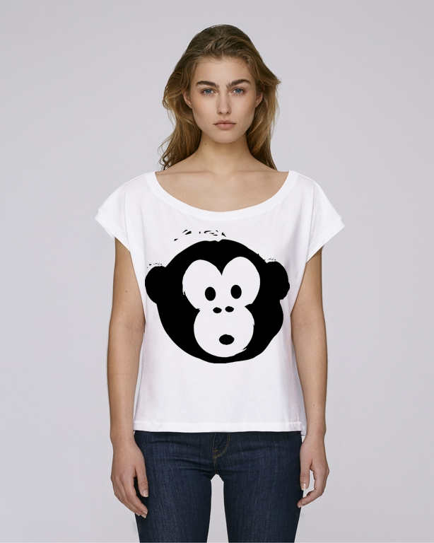 T-shirt Monkey Flies White