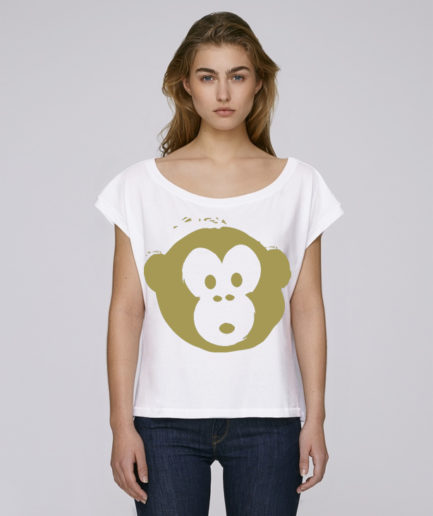 T-shirt Monkey Flies White