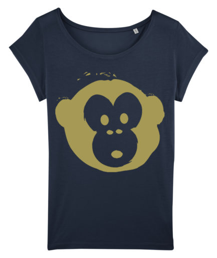 T-shirt Monkey Glows Navy