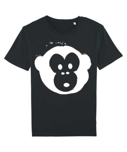 T-shirt Monkey Men Black-White
