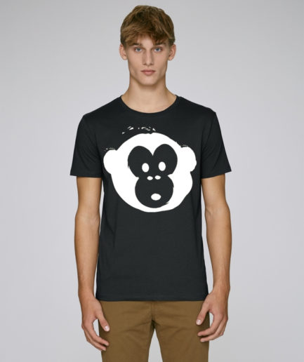 T-shirt Monkey Men Black