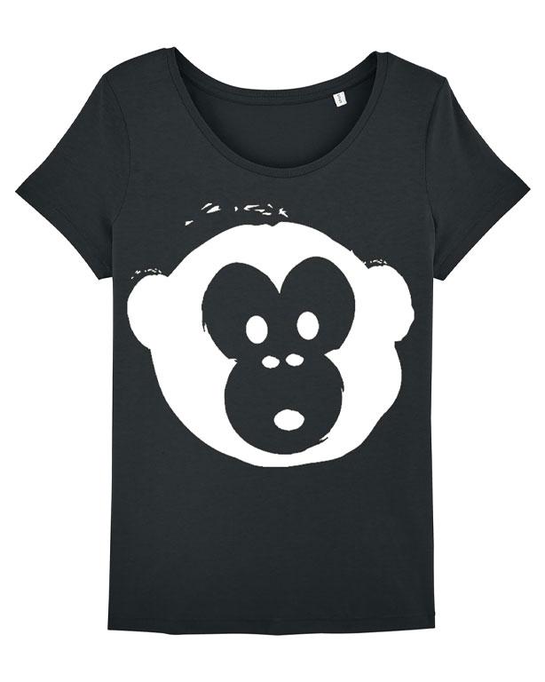T-shirt Monkey Loves Black-White
