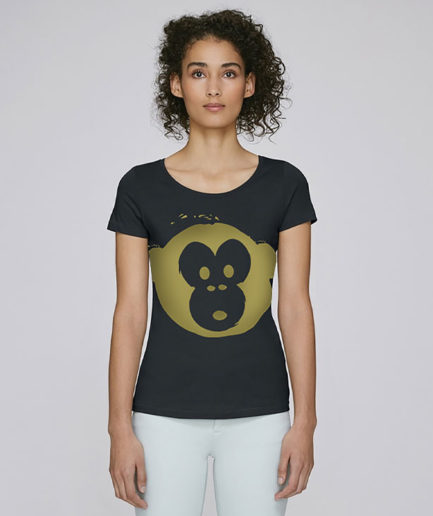 T-shirt Monkey Loves Black