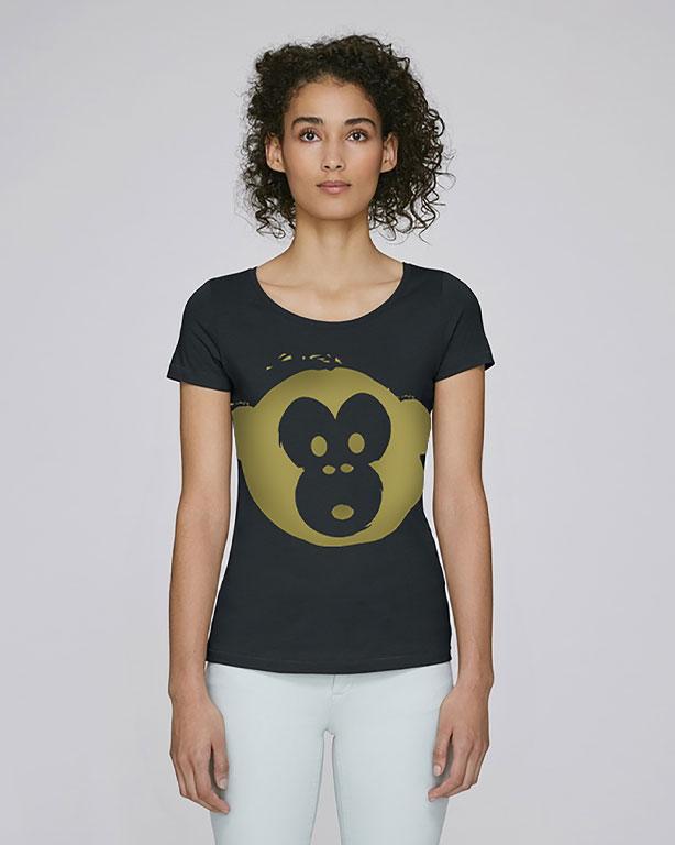 T-shirt Monkey Loves Black