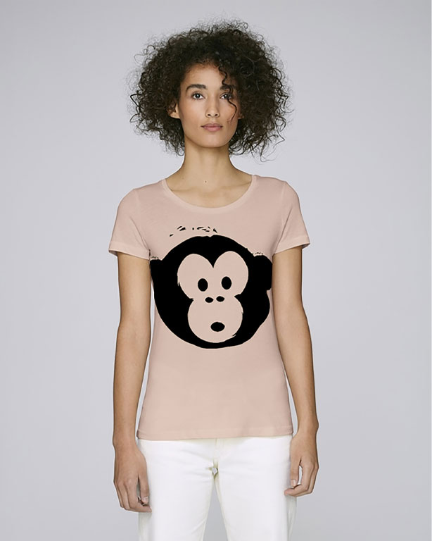 T-shirt Monkey Loves Nude