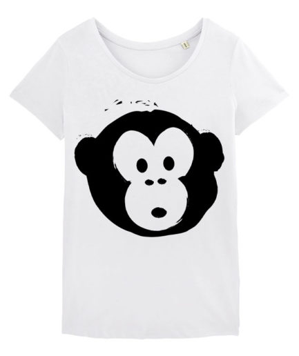 T-shirt Monkey Loves White-Black