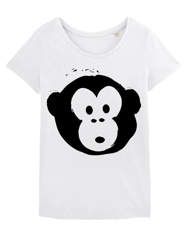 T-shirt Monkey Loves White-Black