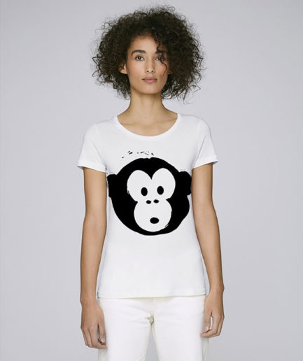 T-shirt Monkey Loves White