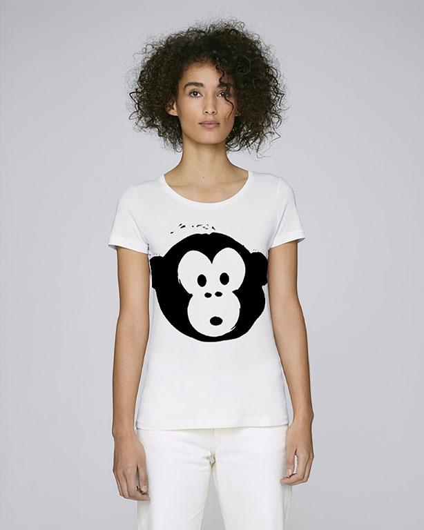T-shirt Monkey Loves White