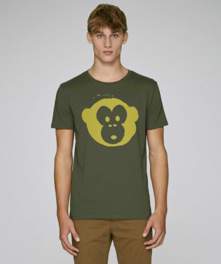 T-shirt Monkey Men Khaki