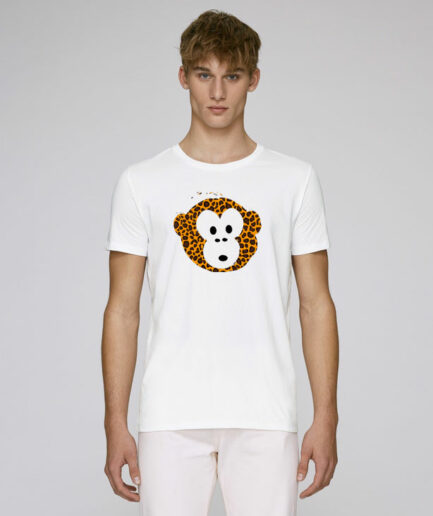 T-shirt Monkey Men White
