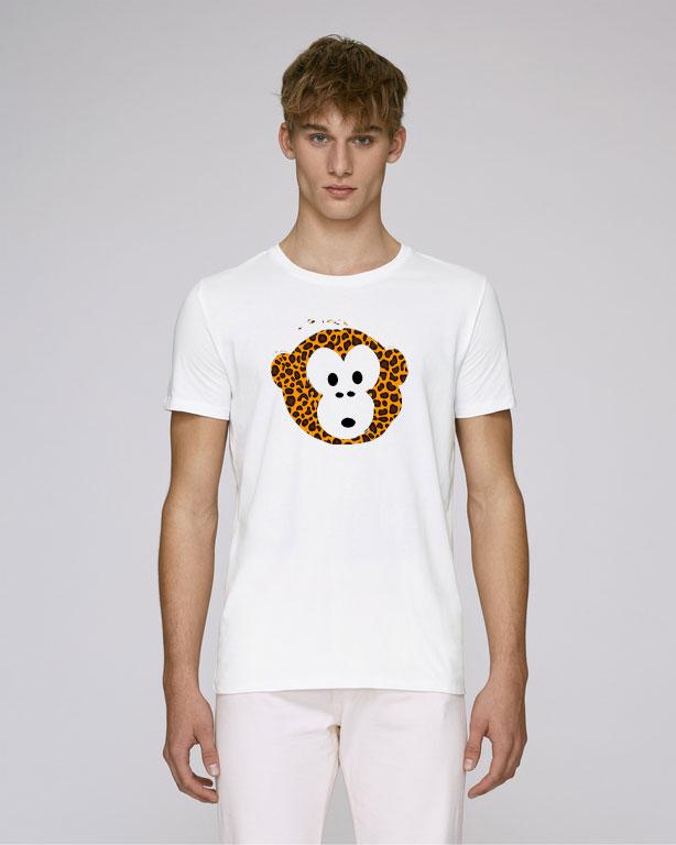 T-shirt Monkey Men White
