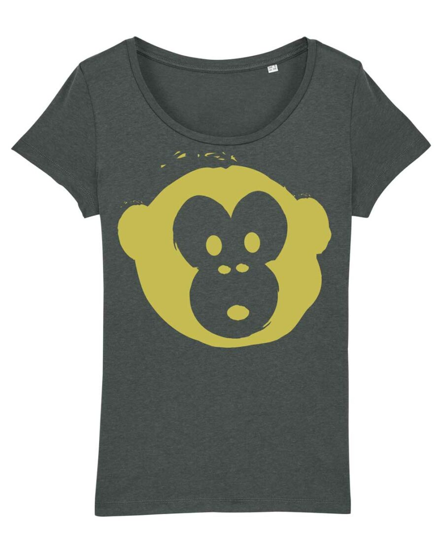 T-shirt Monkey Glows Grey