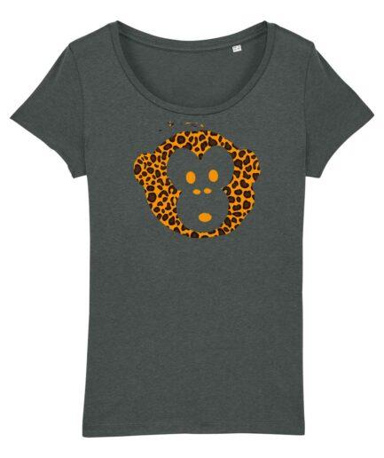 T-shirt Monkey Glows Grey