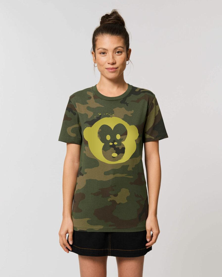 T-shirt Monkey Unisex Camouflage