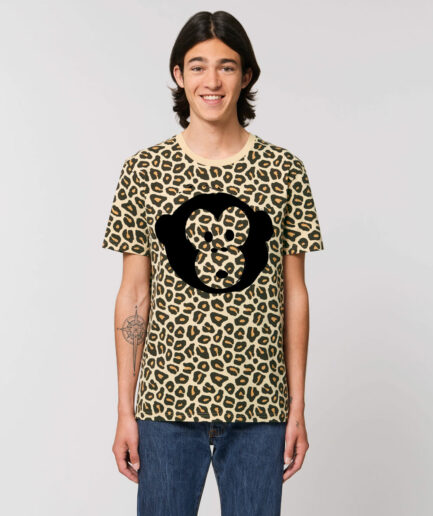 T-shirt Monkey Unisex Leopard