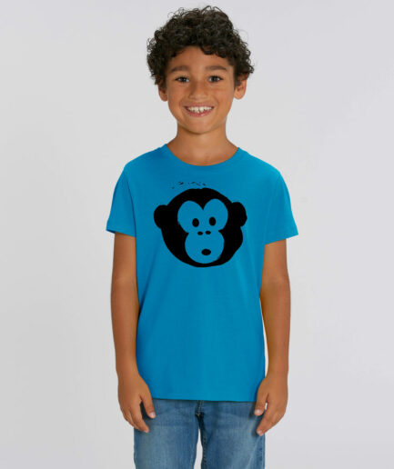 T-shirt Monkey Kids Azur