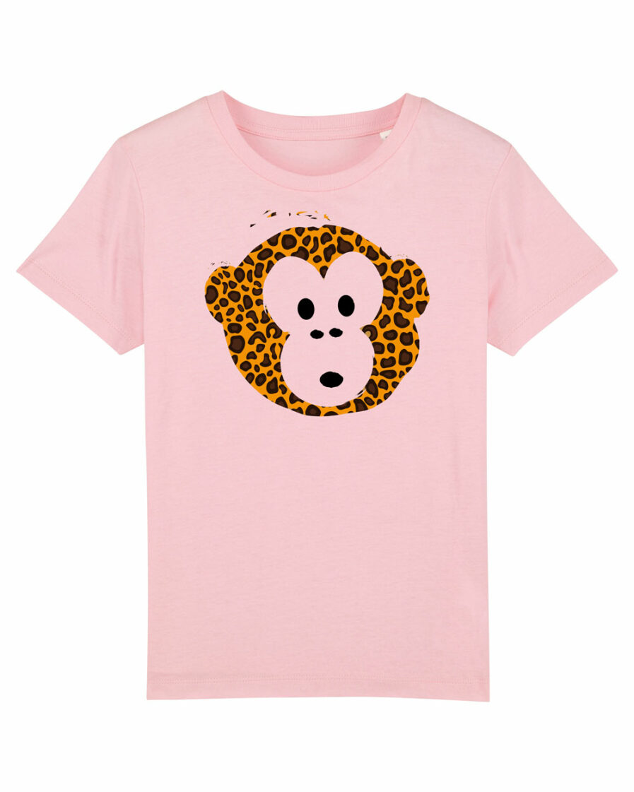 T-shirt Monkey Kids Rosa