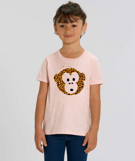 T-shirt Monkey Kids Rosa