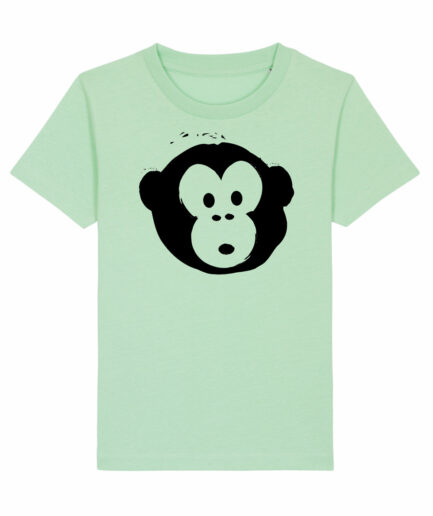 T-shirt Monkey Kids Geyser Green