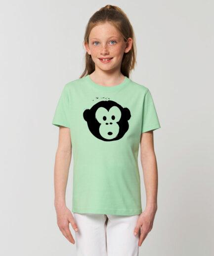 T-shirt Monkey Kids Geyser Green