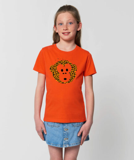 T-shirt Monkey Kids Tangerine