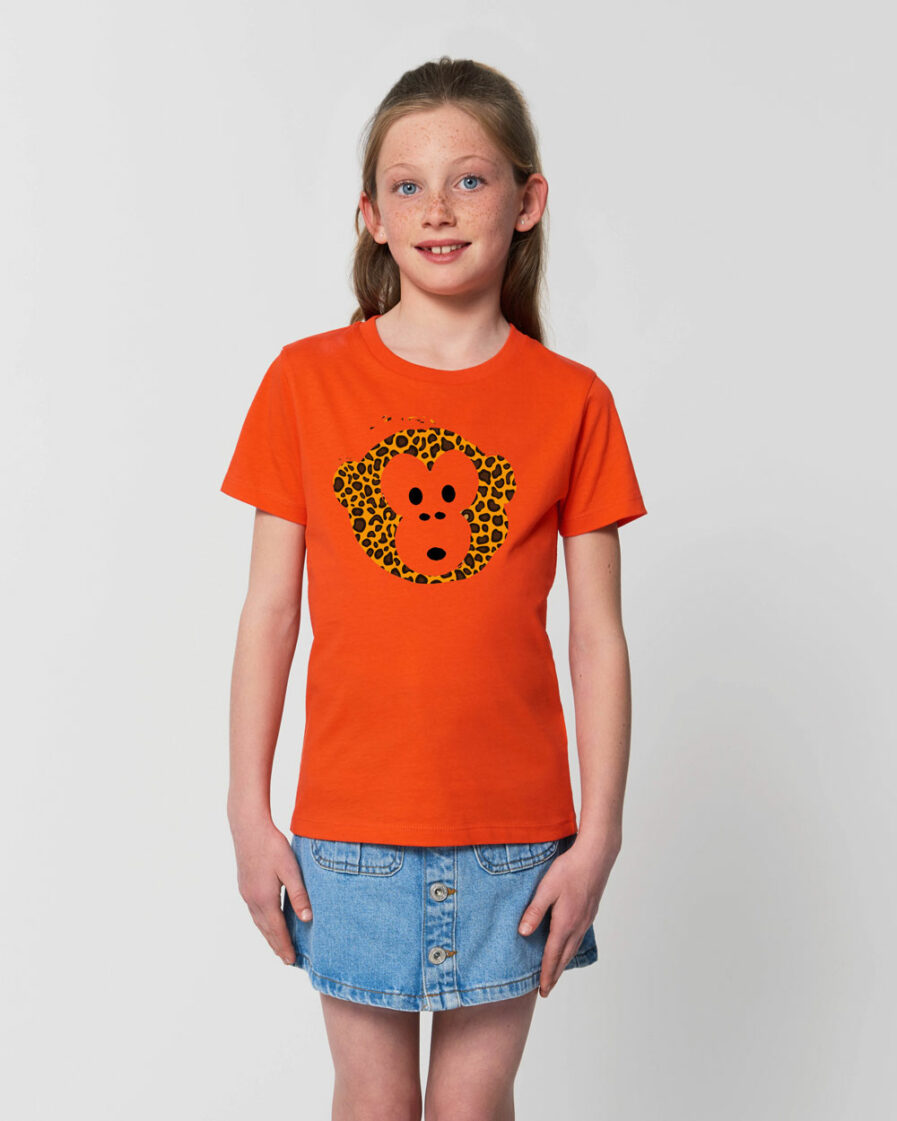 T-shirt Monkey Kids Tangerine