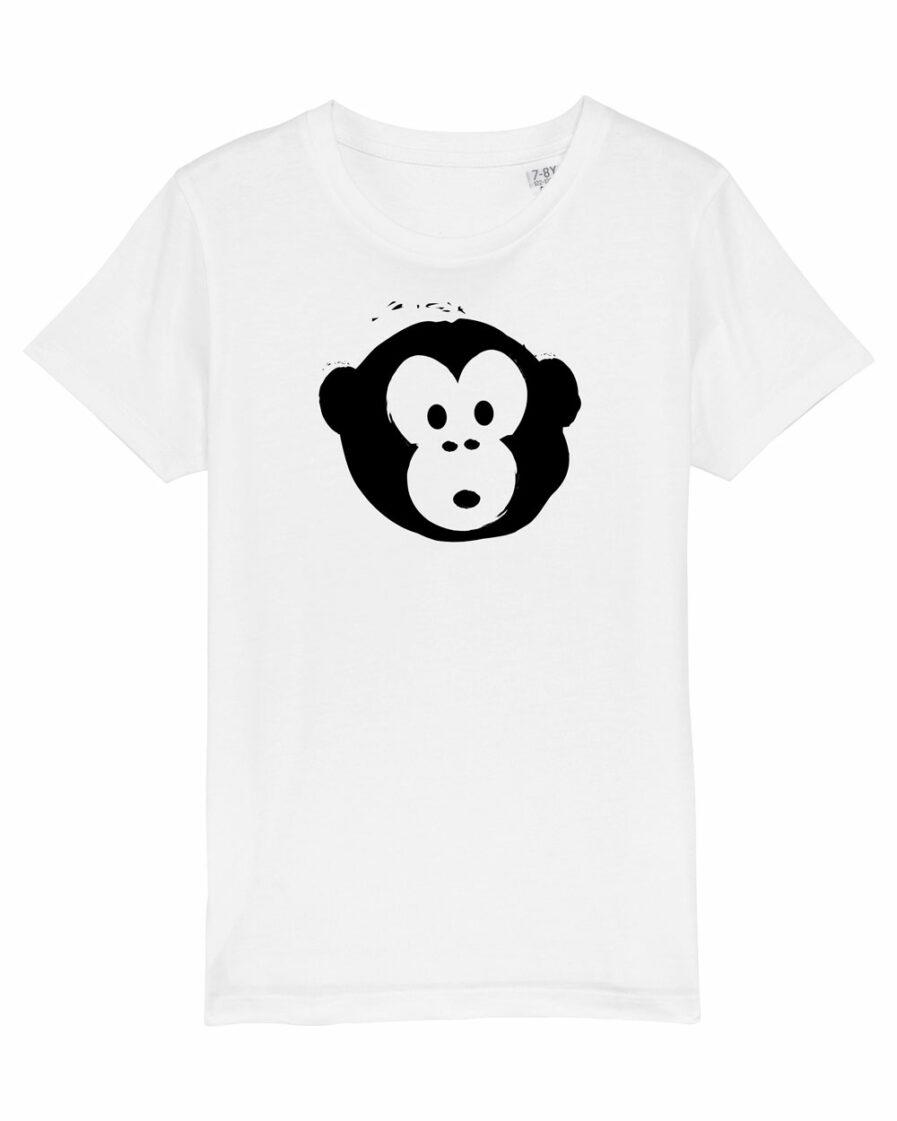 T-shirt Monkey Kids Weiß