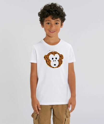 T-shirt Monkey Kids Weiß