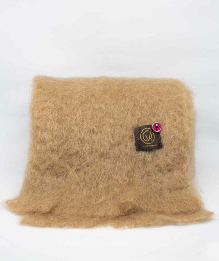Kamel-farbener Mohair-Schal