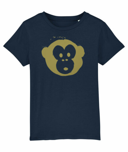 Mini Monkey T-shirt Navy