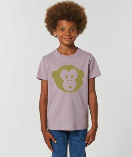 Mini Monkey Tshirt Lilac