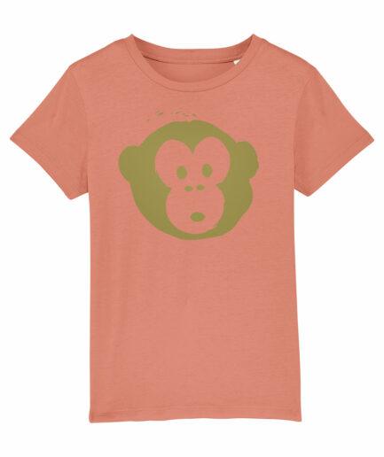 Mini Monkey T-shirt Rose Clay
