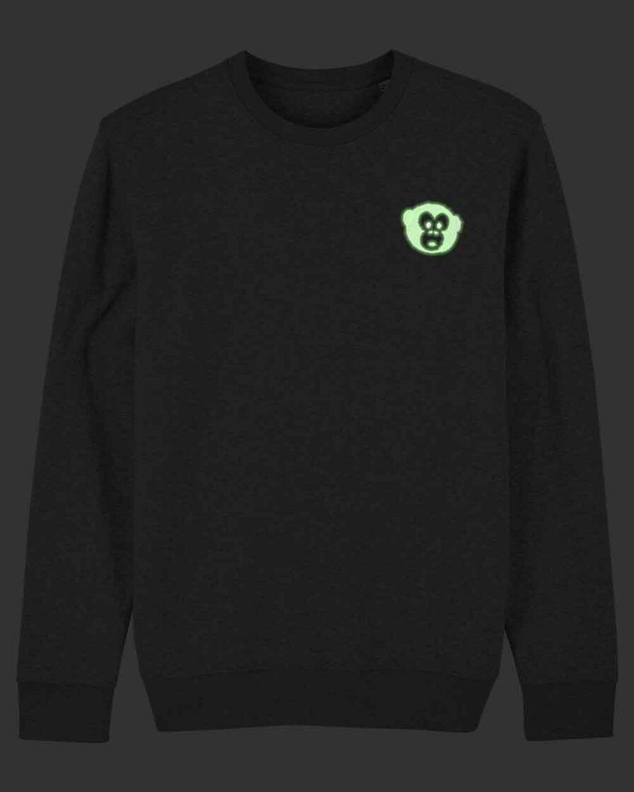 Glowing Monkey Crewneck Sweater