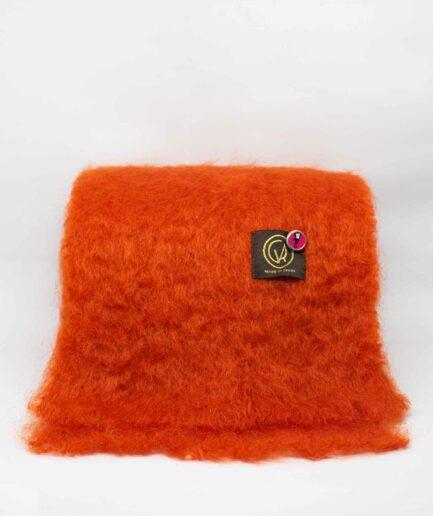 Orange-roter Mohairschal