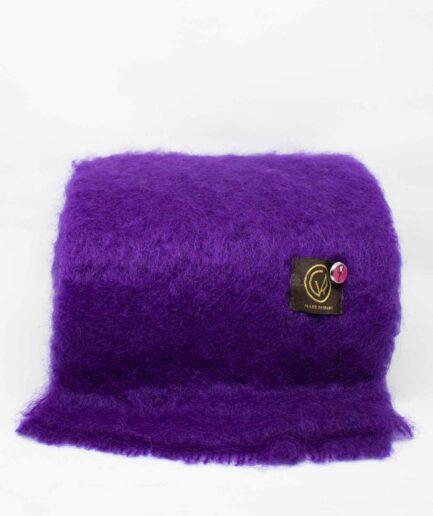 Violetter Mohair-Schal